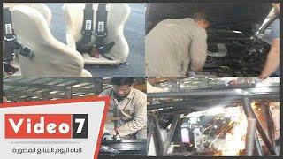 """هزيمة الإرهاب بالتكنولوجيا.. """"اليوم السابع"""" داخل أول مصنع مصرى للزجاج المدرع والسيارات"""