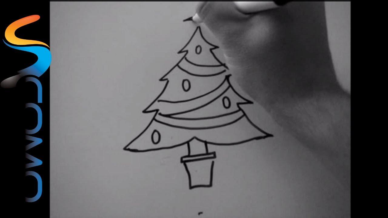 Cómo dibujar un árbol de navidad - Cómo dibujar un árbol de navidad ...