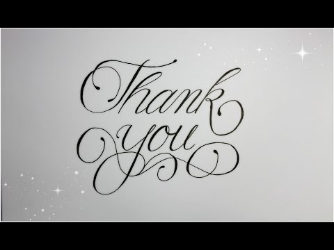 How to Write Thank You in Fancy Cursive - easy version for beginners