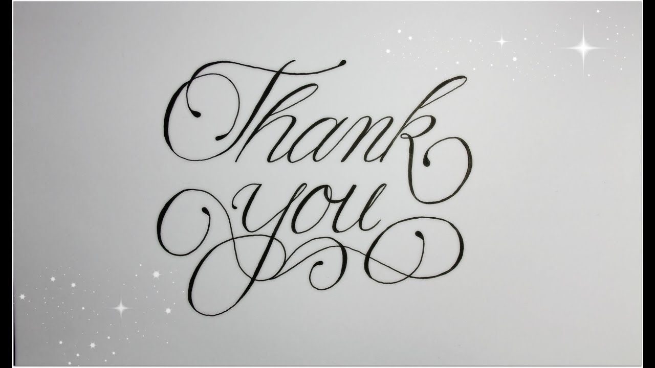 How To Write Thank You In Fancy Cursive Easy Version For