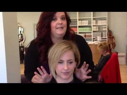 Blonde short cut makeover by Stephanie