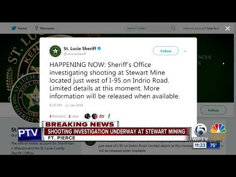 Shooting investigated in St. Lucie County at Stewart Mining Industries