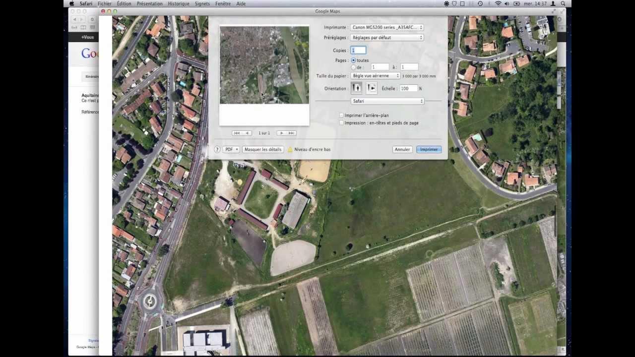 Exporter une vue google map en tr s haute d finition for Google vue des maisons