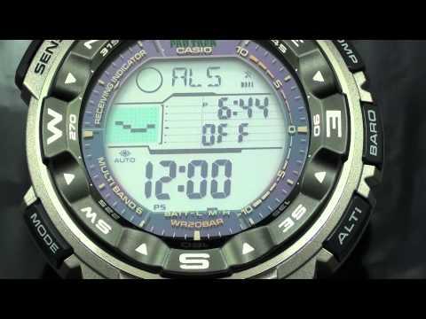 Casio Pro Trek 2500T Video Watch Review