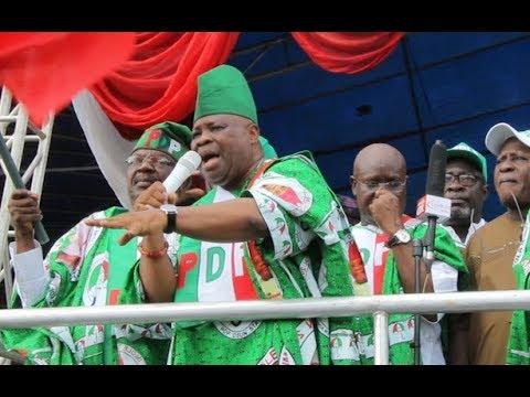 Senator,Ademola Adeleke throws shot at APC at PDP Mega Rally in Osogbo, Osun. See His Dance Moves thumbnail