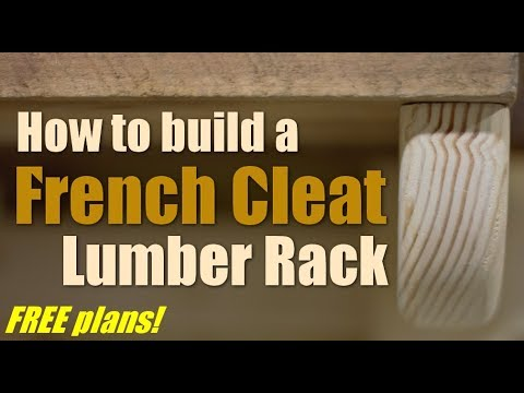 Shop Work How To Build A French Cleat Lumber Rack Youtube