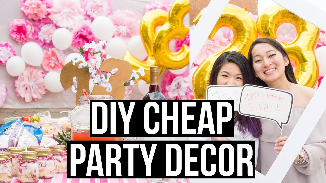 DIY Cheap And Easy Dollar Store Party Decorations