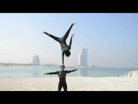African Duo Acrobat