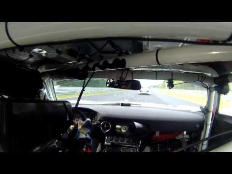 Hans Stuch VLN Crash Audi R8 GT3 Onboard Mercedes GT3 SLS with Stuart Leonard