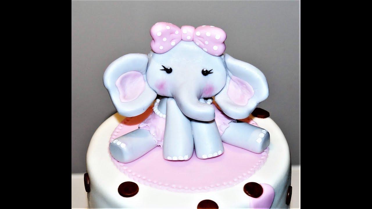 Cake Decorating Tutorials How To Make An Elephant Cake Topper