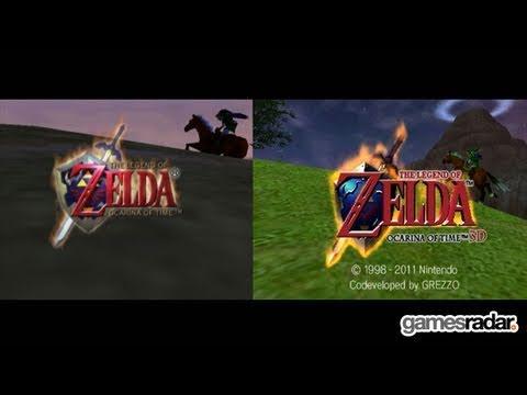 Zelda: Ocarina of Time - N64 vs 3DS side-by-side