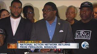 National Action Network returns from Ferguson, Missouri