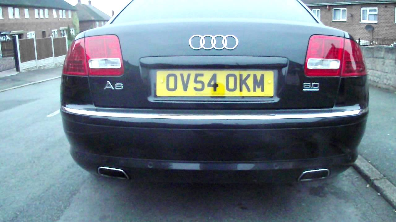 Audi A8 W12 With Uprated Exhaust Youtube
