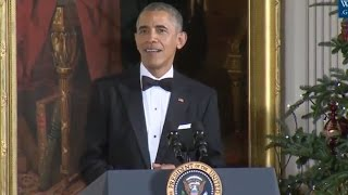 Obamas Final Kennedy Honors Reception -Full Speech - 2016