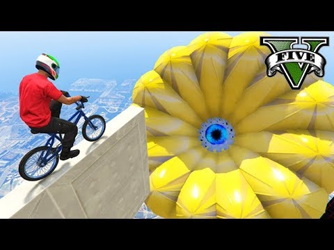 GTA V Online: SALTO NO ALVO CHINÊS GIGANTE de BMX!!! (DEI SHOW)