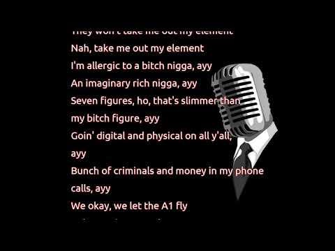 Kendrick Lamar - ELEMENT. (lyrics)