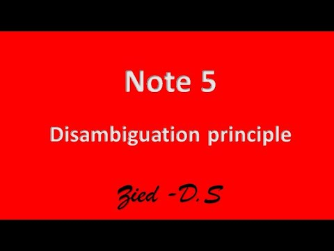 Note 5:disambiguation principle