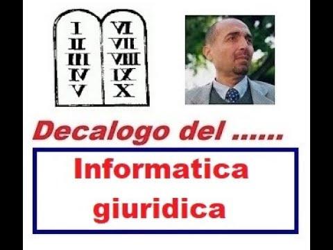 Decalogo Di ... INFORMATICA GIURIDICA (26/01/2020)