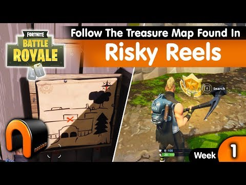 Follow The Treasure Map Found In Risky Reels FORTNITE - Risky Reels map location