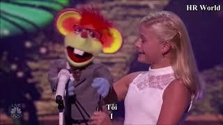[Eng-Vietsub] Darci Lynne: cô bé hát tiếng bụng từng nhận nút vàng thể hiện quá xuất sắc đêm tứ kết