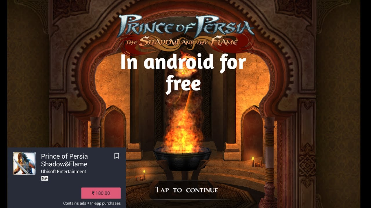 how to download prince of persia snf for free in android youtube