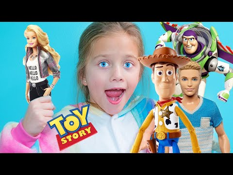 Barbie - NEW Toy Story Movie - Buzz and Woody Find a Ken Doll - Pretend Play With Toys