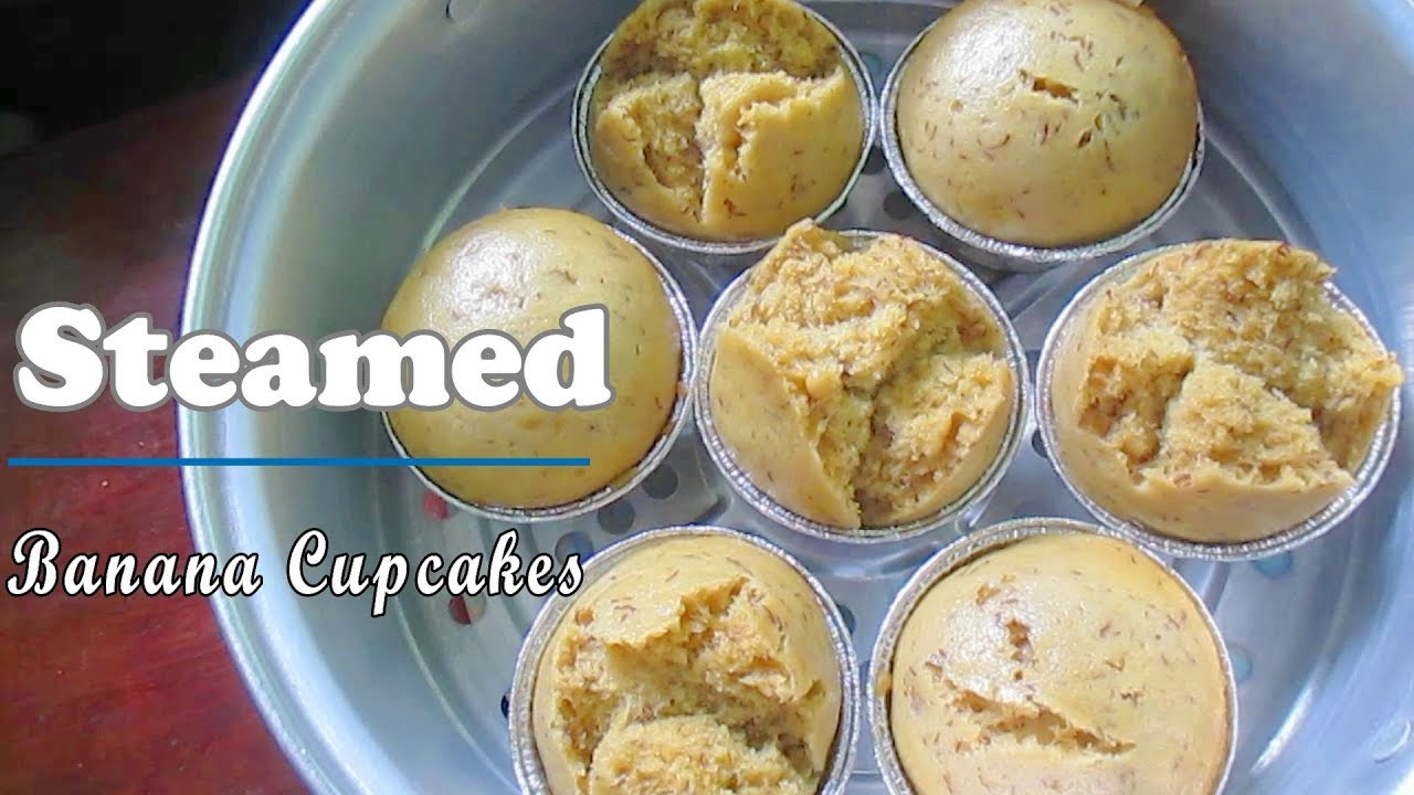 Easy steamed banana cupcake recipe