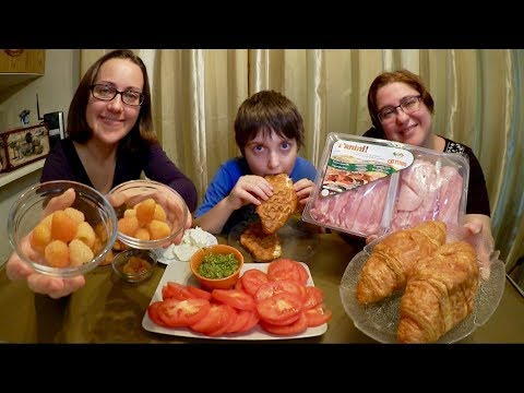 Croissant Sandwiches And Sunshine Raspberry | Gay Family Mukbang (먹방) - Eating Show