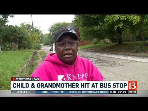 Grandma saves kid at bus stop