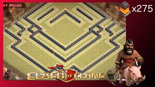 """Brand New TH10 War Base! """"The Equinox"""" (275 Walls) - Clash Of Clans"""