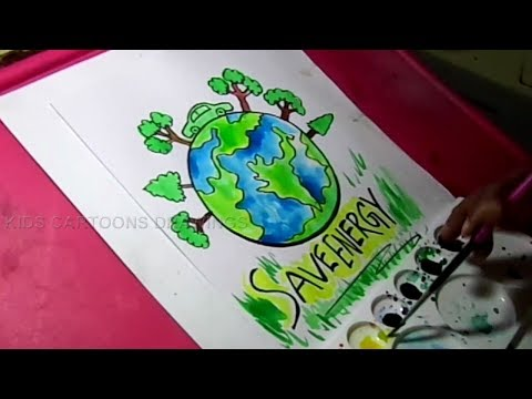 How to Draw Save Nature /Save Energy Drawing for Kids