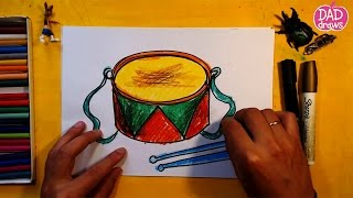 How to draw a drum