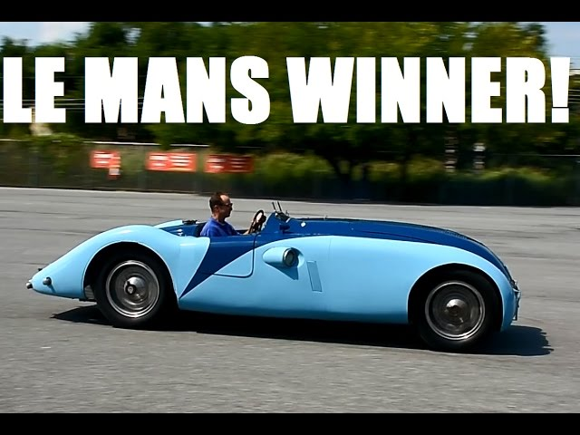 DRIVING a Le Mans WINNER, the Bugatti 57G ...+ Alfa & Stutz race cars + Auburn Speedster