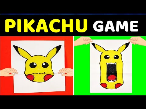 FUN PAPER GAMES | EASY CRAFTS FOR FAMILY AND FUN | Pikachu Paper Games