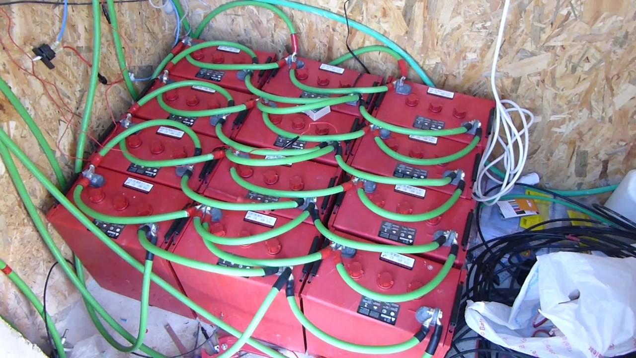medium resolution of off grid diy home solar install p4 battery bank