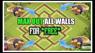 MAX OUT ALL WALLS WITH RING OF WALLS l BEST MAGIC ITEM EVER l CLASH OF CLANS