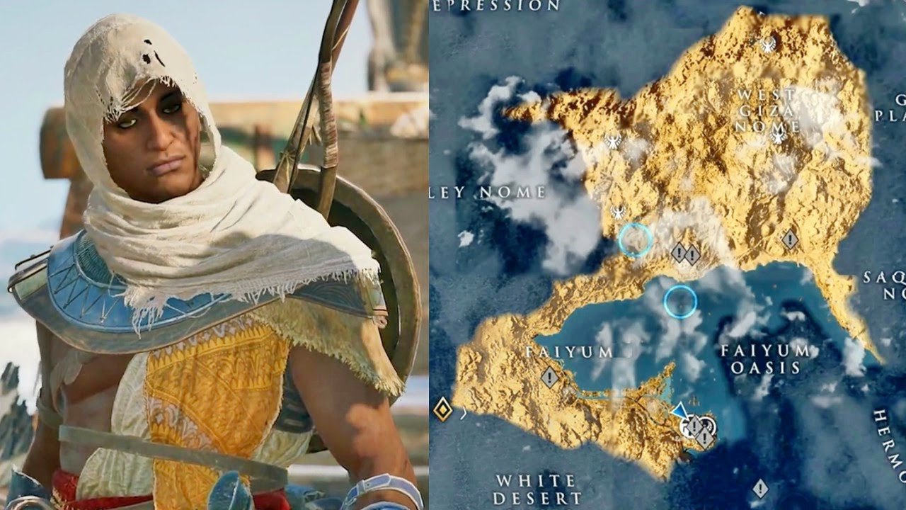 Assassin's Creed Origins World Map is Huge!