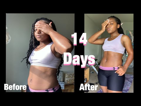 Abs In Two Weeks ? I Lost 2 Inches 👀 ~ ChloeTing Shredding Ab Workout Challenge !