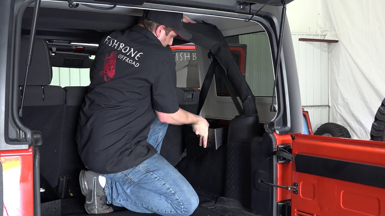 Wheel Well Storage Bins For Jeep Wrangler Unlimited 2007-2018 Fishbone FB25081