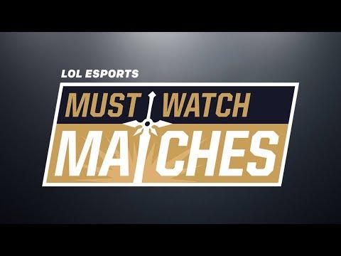 Must Watch Matches Spring 2018 Episode 4: 100 vs. CG   SKT vs. KSV   SPY vs. G2