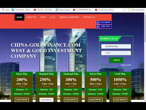 200% After 1 Day China GoldFinance|| New Doubler Hyip Investment Site Launched