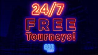888poker 24/7 FREE Tourney Every Hour!