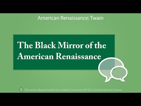 The Black Mirror of the American Renaissance