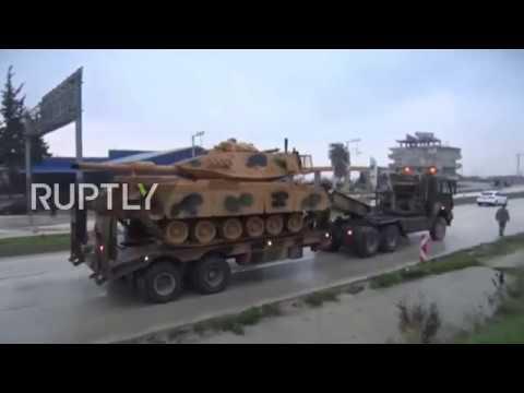 Turkey: Convoy of tanks reaches Syrian border near Kilis