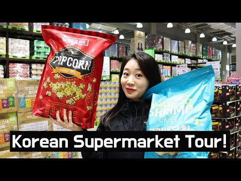 Korean Supermarket Tour and Food Prices: Grocery Shopping in Korea Emart Traders