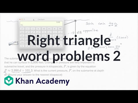 Right Triangle Word Problems — Harder Example | Math | New SAT | Khan Academy
