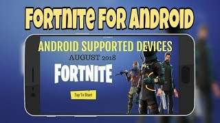 Fortnite Mobile Supported Android Devices August 2018