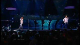 Eurovision 2005 Semi Final 05 Latvia *Walters & Kazha* *The War Is Not Over* 16:9 HQ