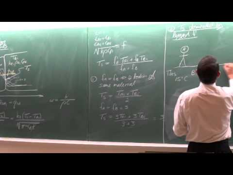 Lecture 12 (2013). 4.3 Contact of two semi-infinite solids. Transient heat transfer