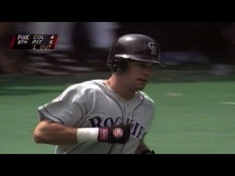 COL@PIT: Todd Helton hits first career home run